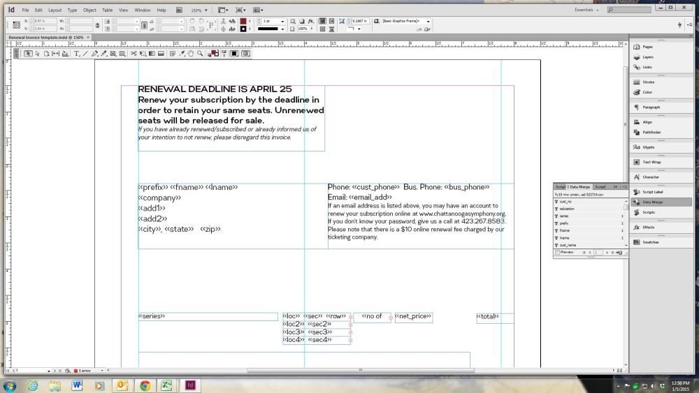building subscription renewal forms using adobe indesign arts hacker. Black Bedroom Furniture Sets. Home Design Ideas