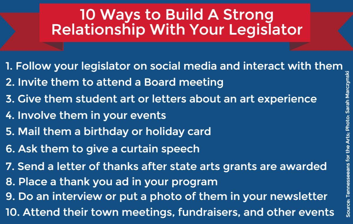 10 Ways to Build A Strong Relationship with Your Legislator