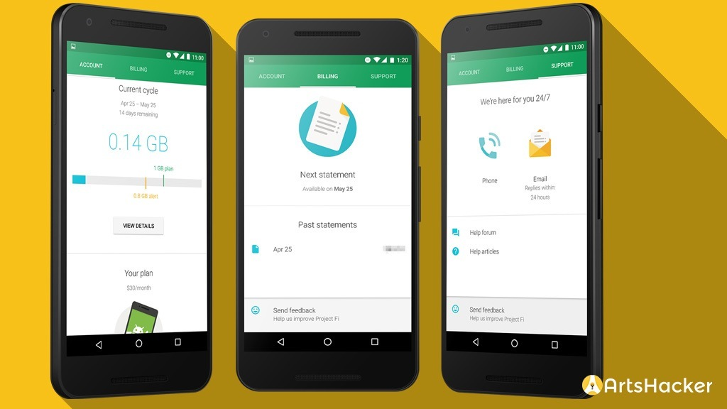 Project Fi Account Billing And Support